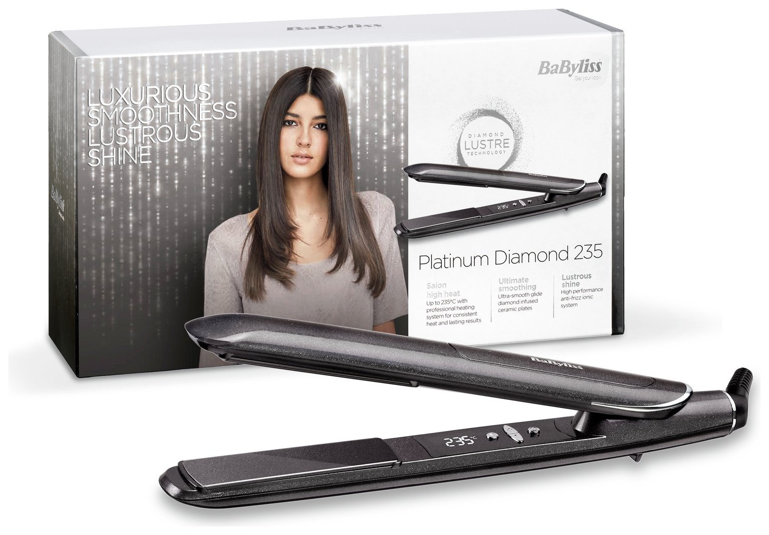 BaByliss 2590DU Platinum Diamond Hair Straightener