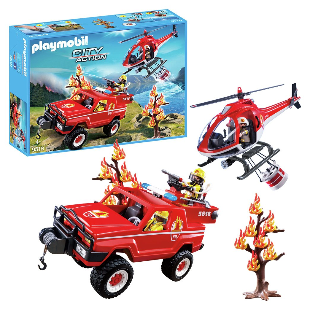 Playmobil 9518 Forest Fire Club Playset
