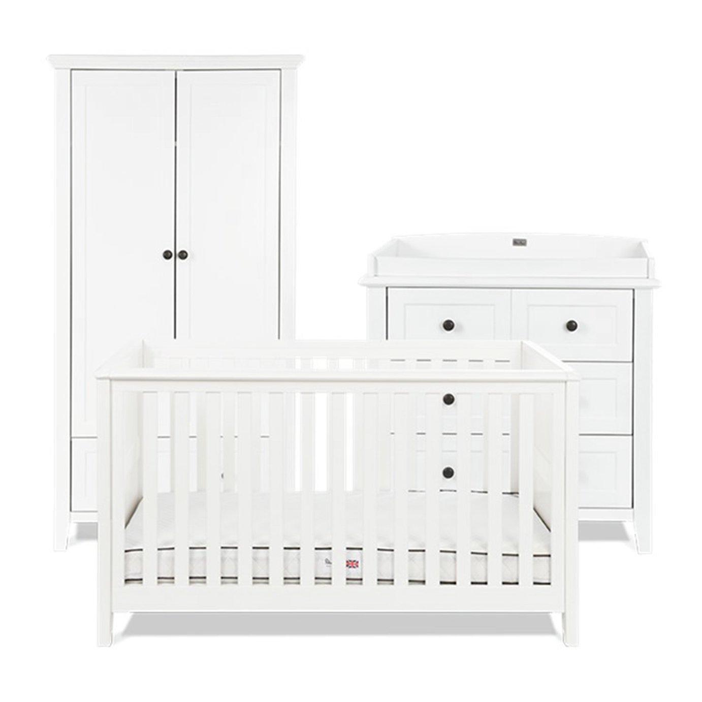 Silver Cross Nostalgia Cot Bed Dresser Wardrobe Set- White