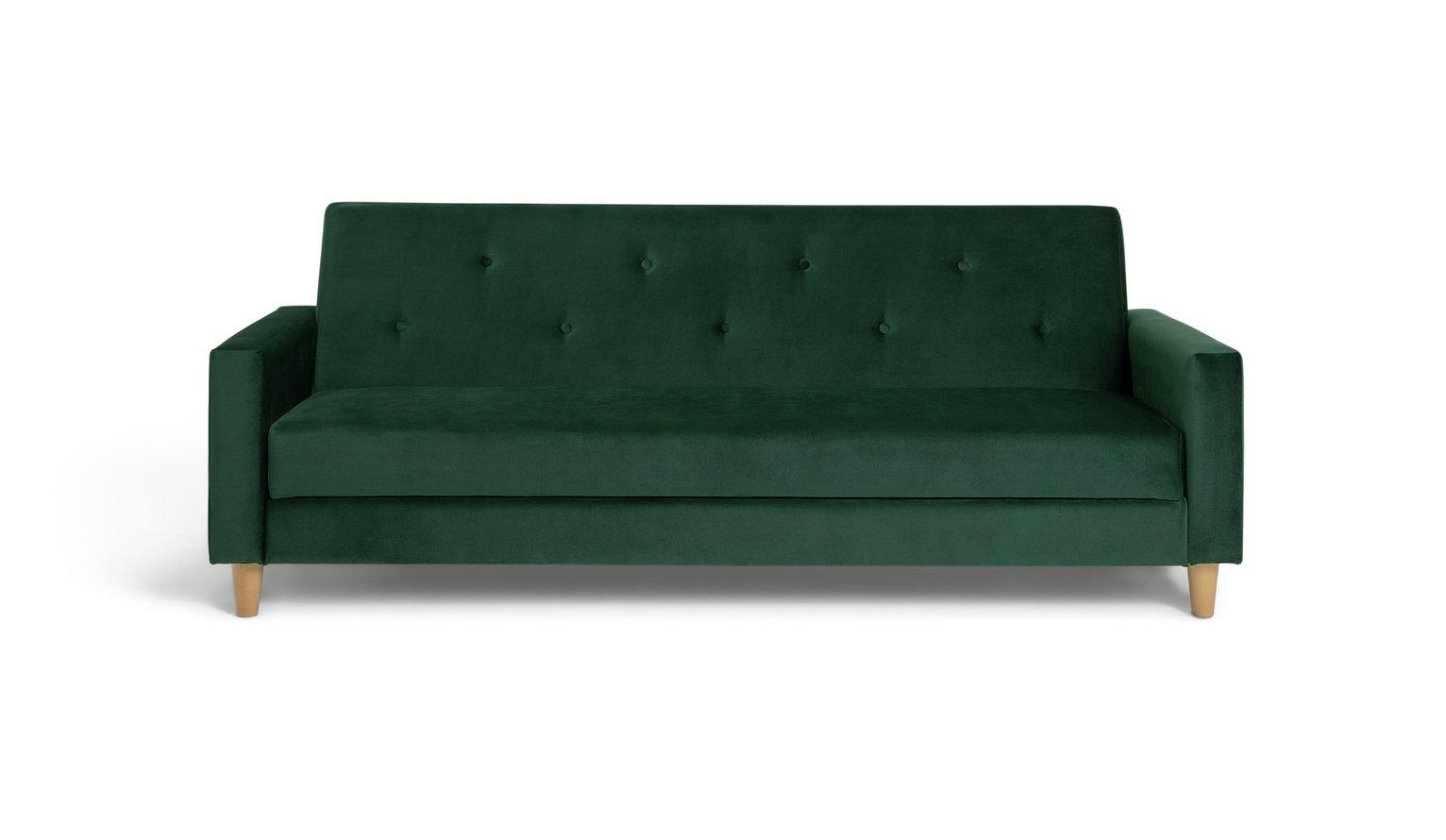 Habitat Brooks Clic Clac Storage Fabric Sofa Bed - Green