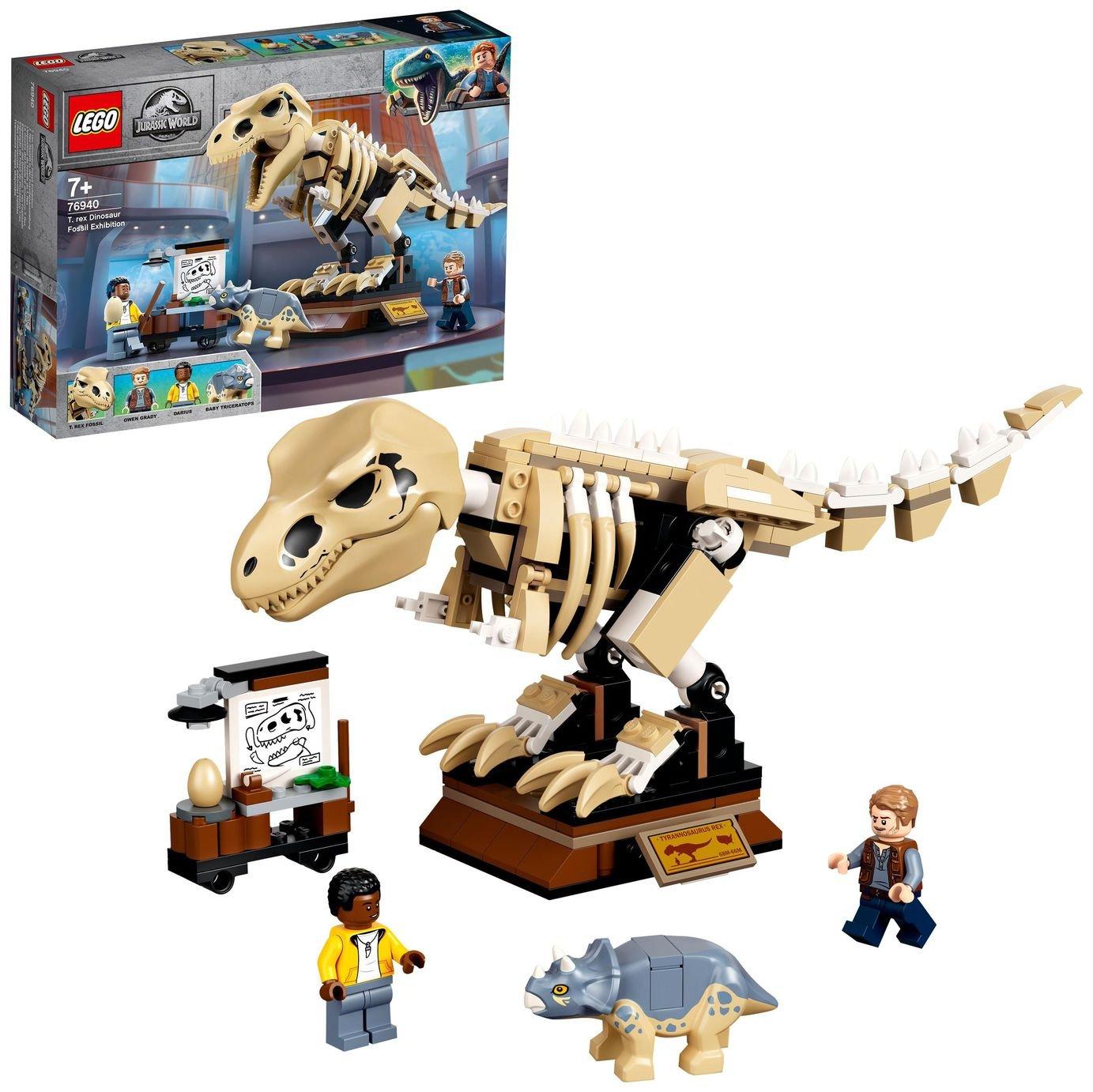 LEGO Jurassic World T. rex Dinosaur Fossil Toy Set 76940