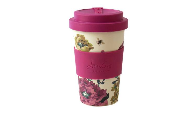Joules Floral Bamboo Travel Mug - 400ml