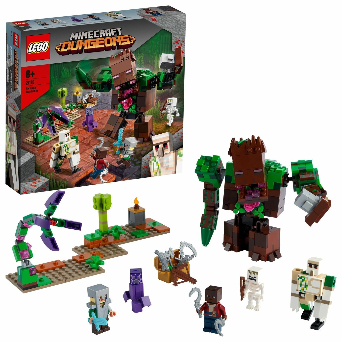 LEGO Minecraft Dungeons The Jungle Abomination Toy Set 21176