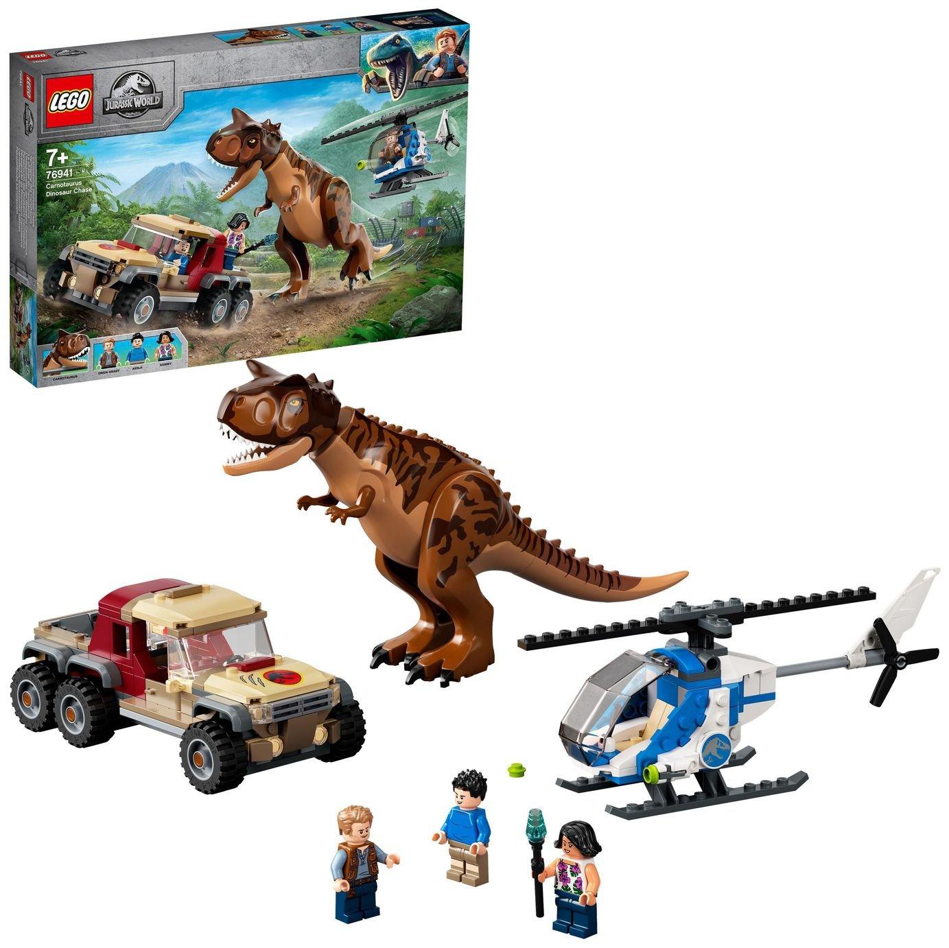 LEGO Jurassic World Carnotaurus Dinosaur Chase Toy 76941