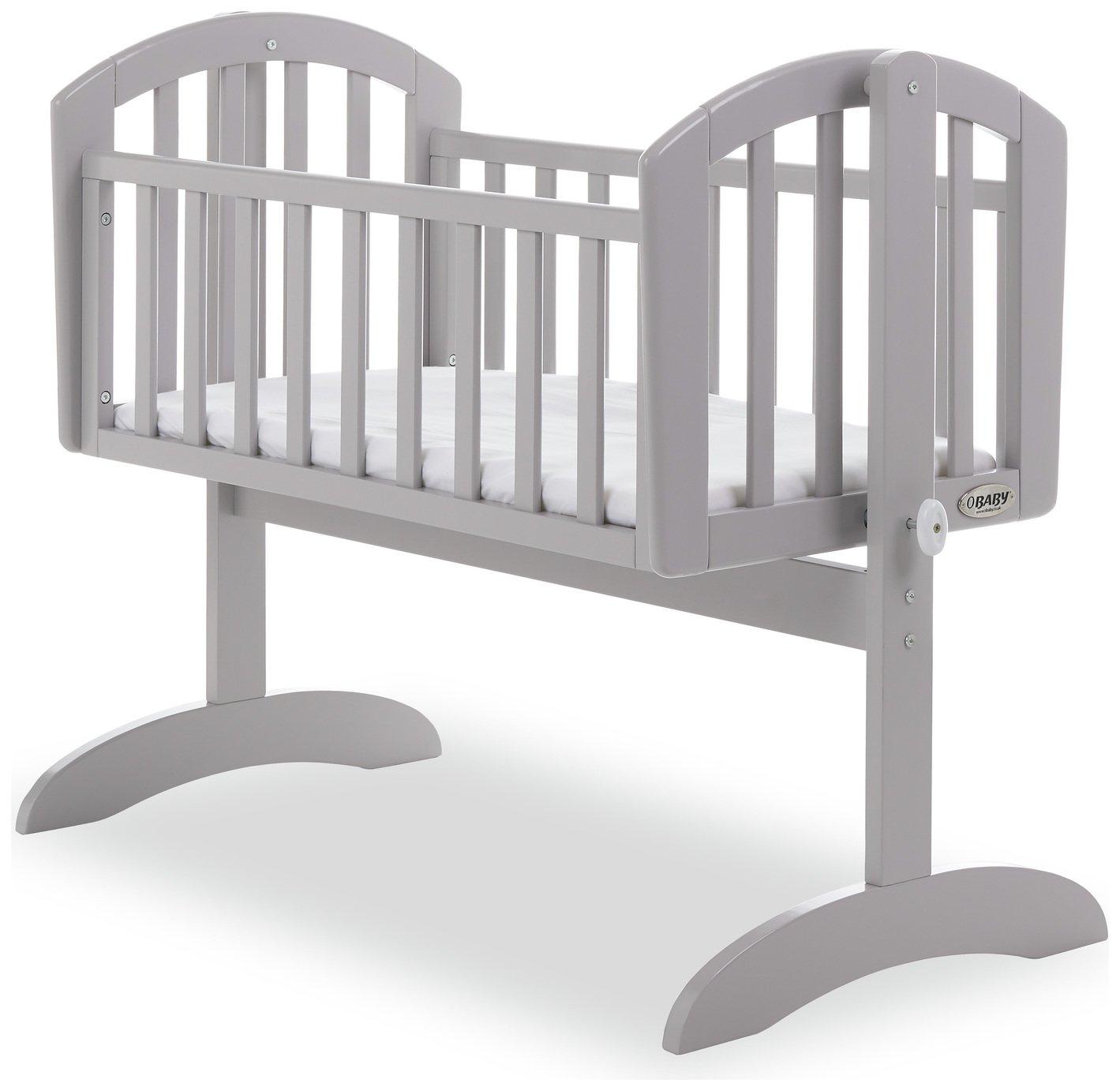 Obaby Sophie Swinging Crib - Warm Grey