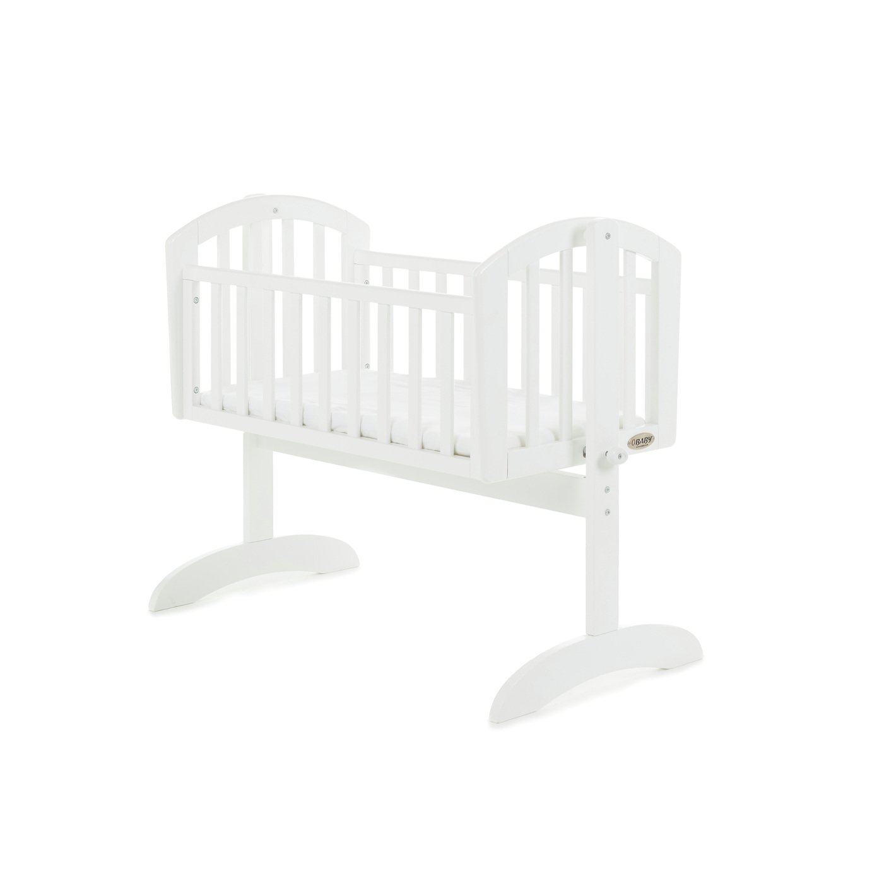 Obaby Sophie Swinging Crib and Mattress - White