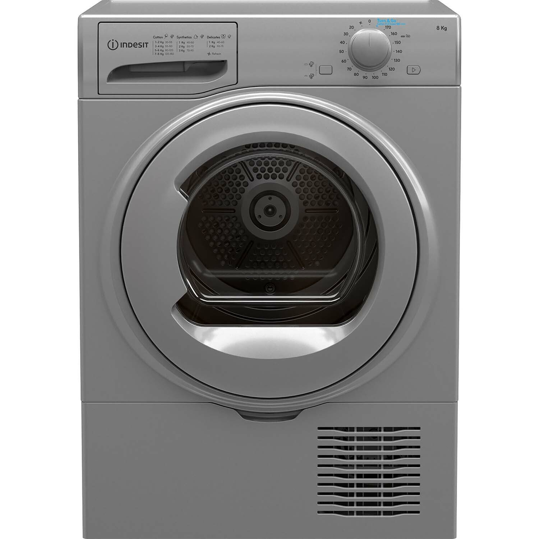 Indesit I2D81SUK 8KG Condenser Tumble Dryer - Silver