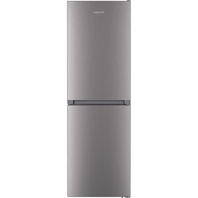 Hotpoint HTFC8 50TI1 X 1 Freestanding Fridge Freezer 322L 59.5cm width Silver