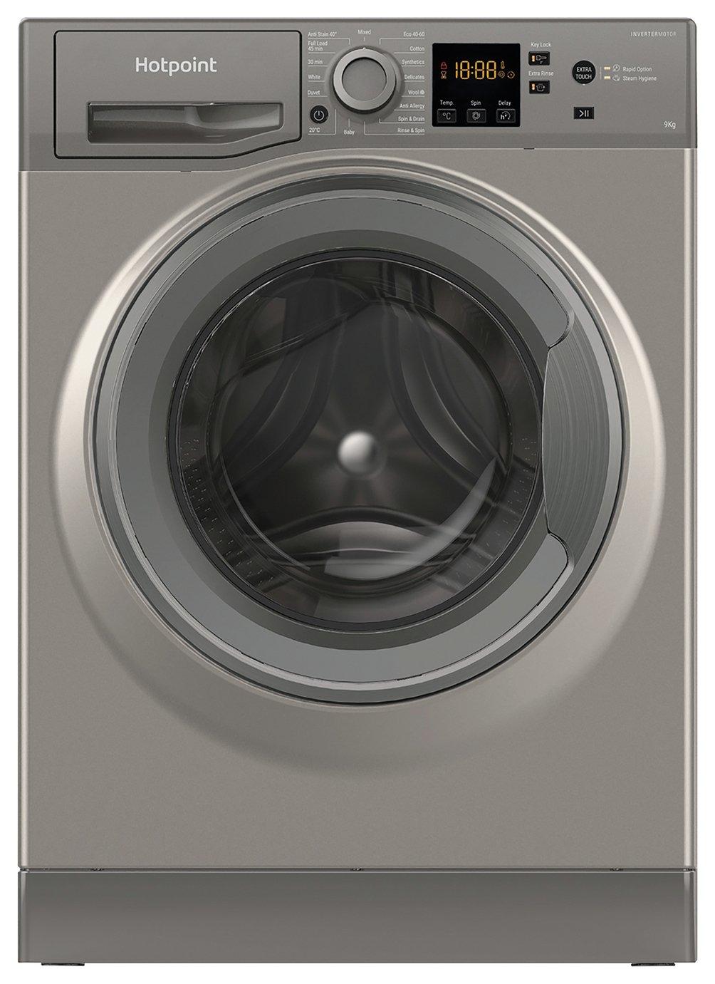 Hotpoint NSWM944CGGUK 9KG 1400 Spin Washing Machine Graphite