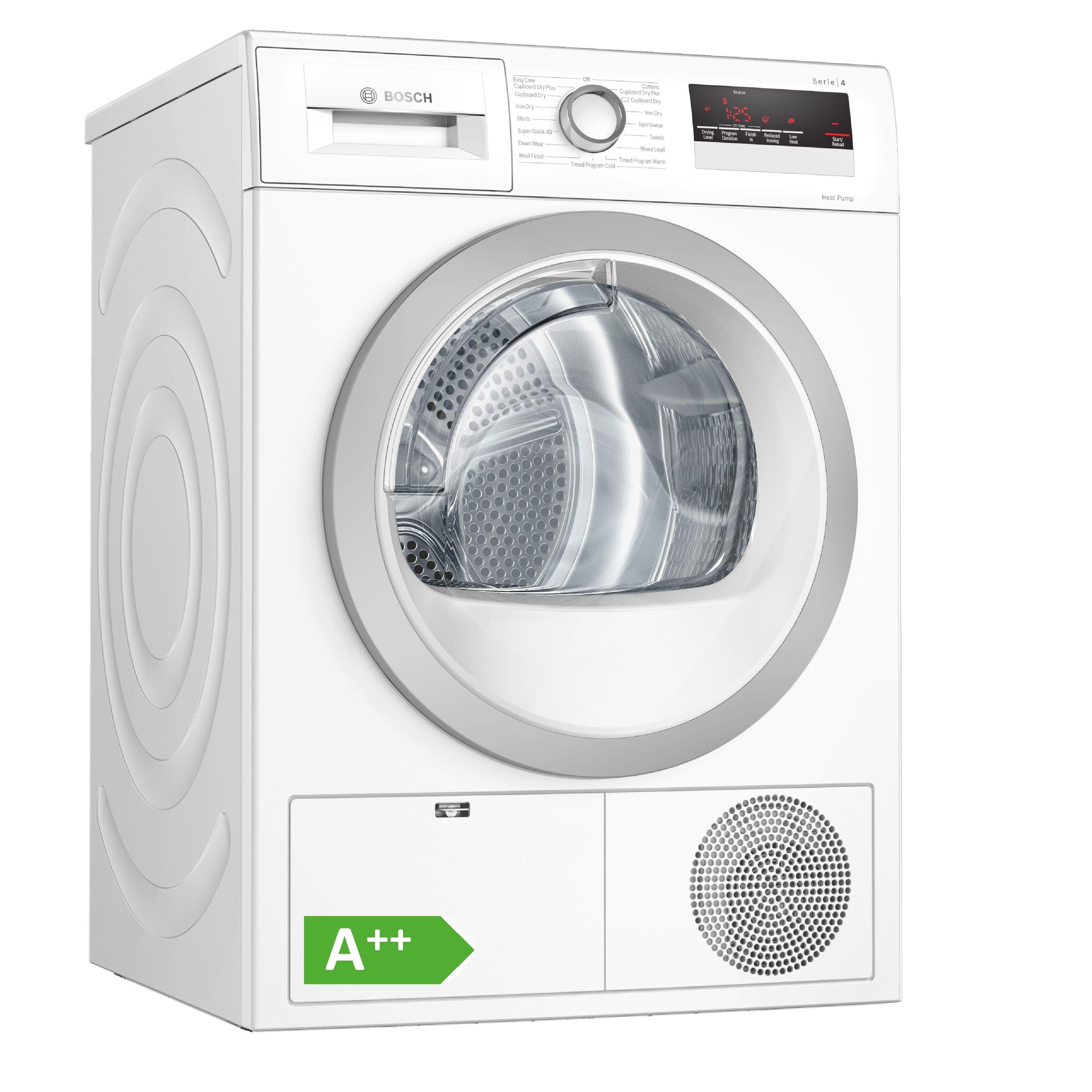 Bosch WTH85222GB 8KG Heat Pump Tumble Dryer - White
