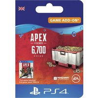 Apex Legends 6000+700 Bonus Coins PS4 Digital Download
