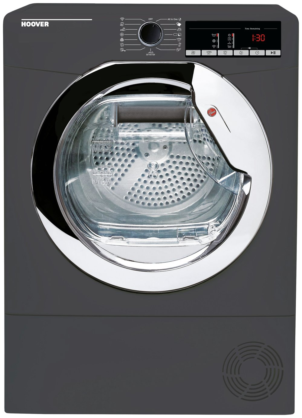 Hoover HLE C9TCER-80 9KG Condenser Tumble Dryer - Graphite