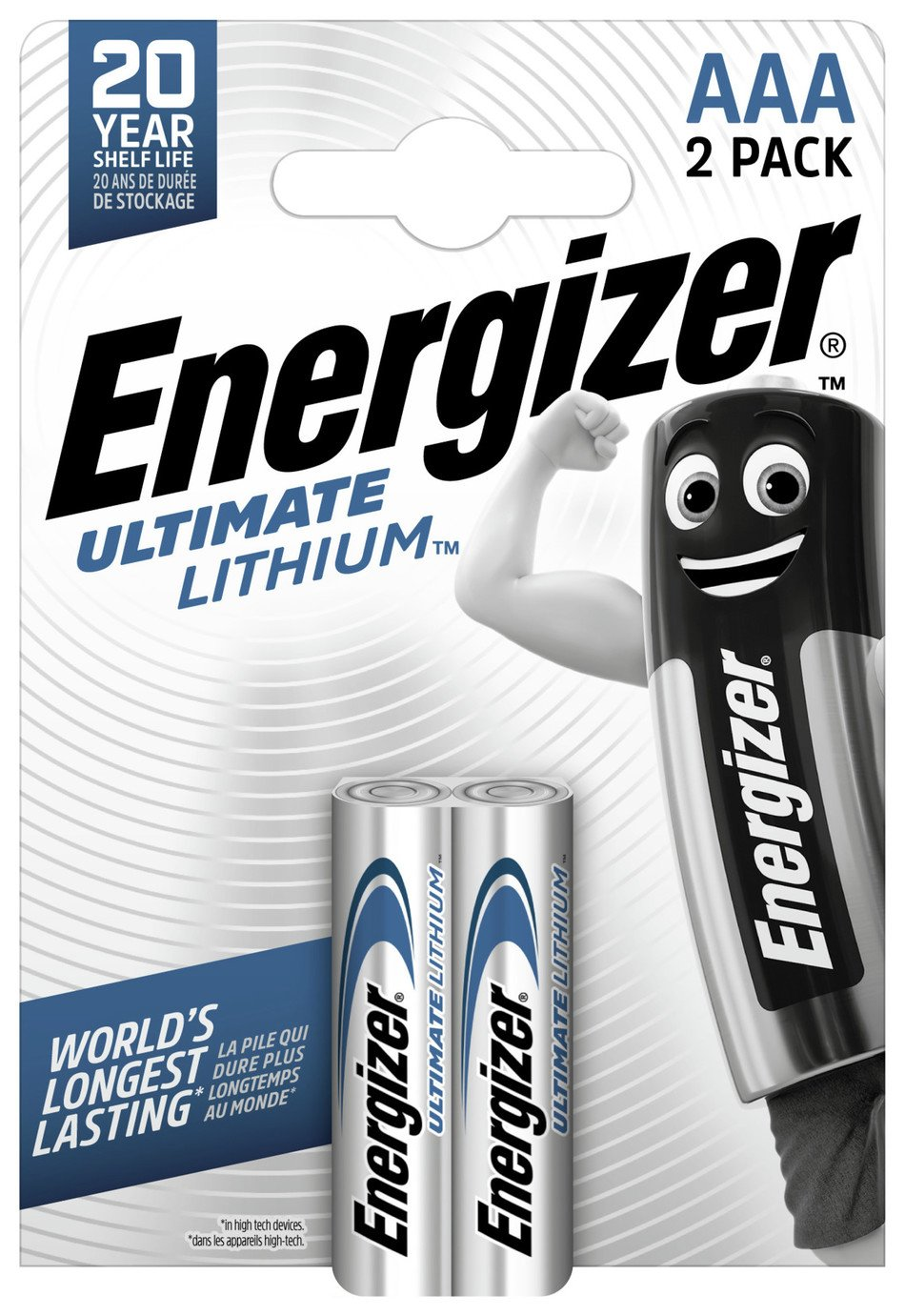 Energizer Ultimate Lithium  AAA Batteries - 2 Pack