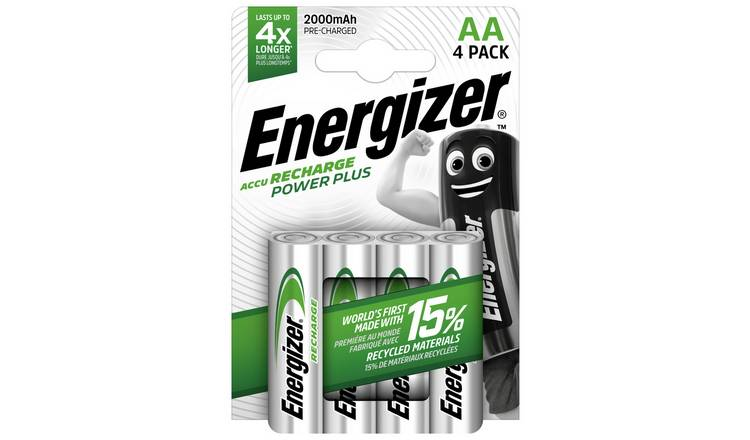 Energizer Rechargeable Power Plus AA Batteries - Pack of 4
