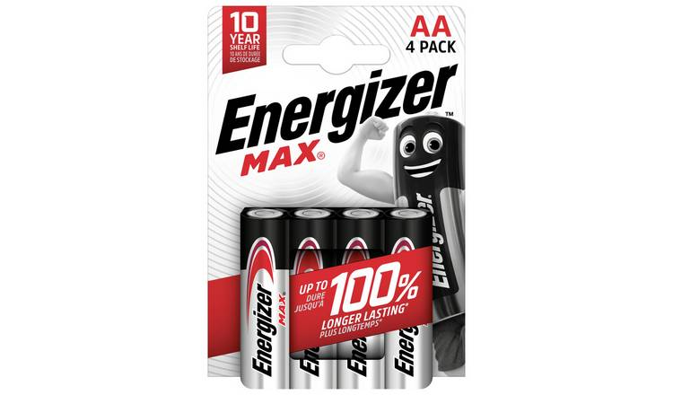Energizer Max AA Batteries - Pack of 4