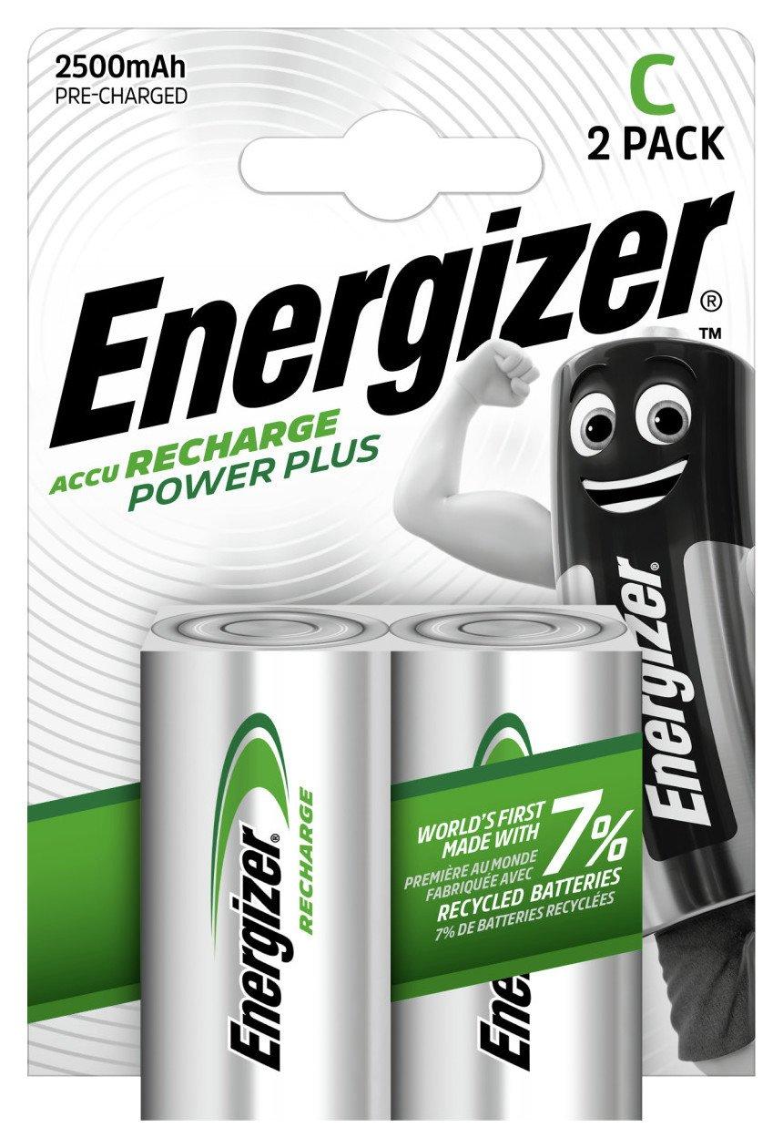 Energizer 2500 mAh Rechargeable C Batteries - 2 Pack