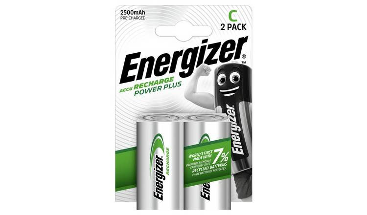 Energizer Rechargeable Power Plus C Batteries - Pack of 2