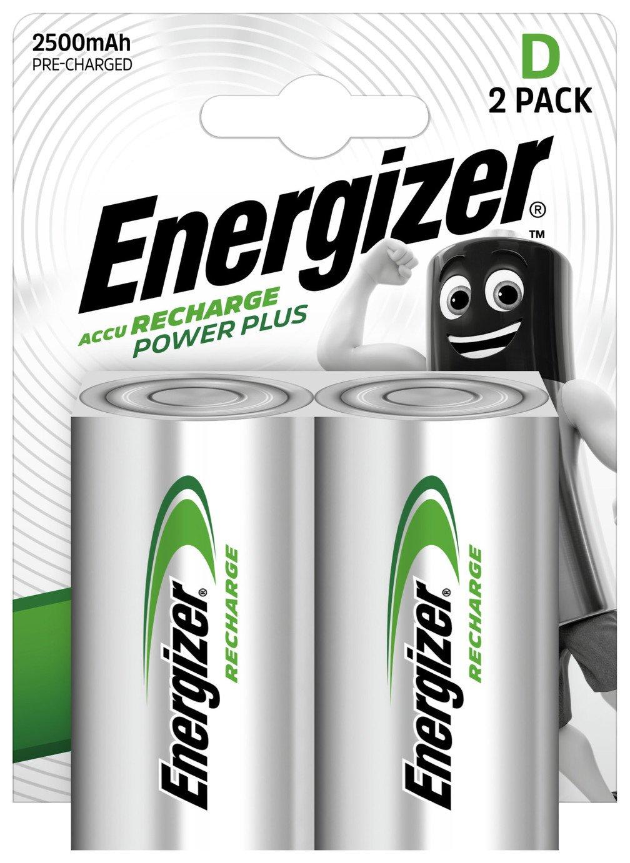 Energizer Rechargeable Power Plus D Batteries - Pack of 2