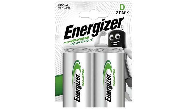 Energizer Rechargeable Power Plus D Batteries - Pack of 2