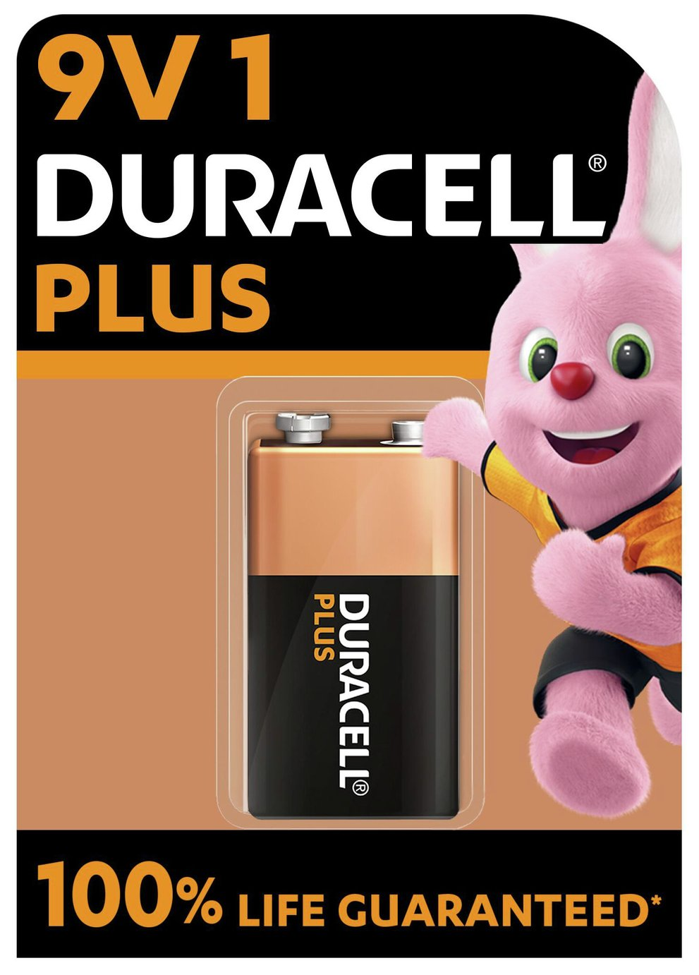 Image of Duracell Plus Power Alkaline 9V Battery - Pack of 1