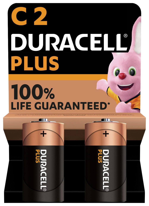 Duracell Plus Alkaline C Batteries - Pack of 2