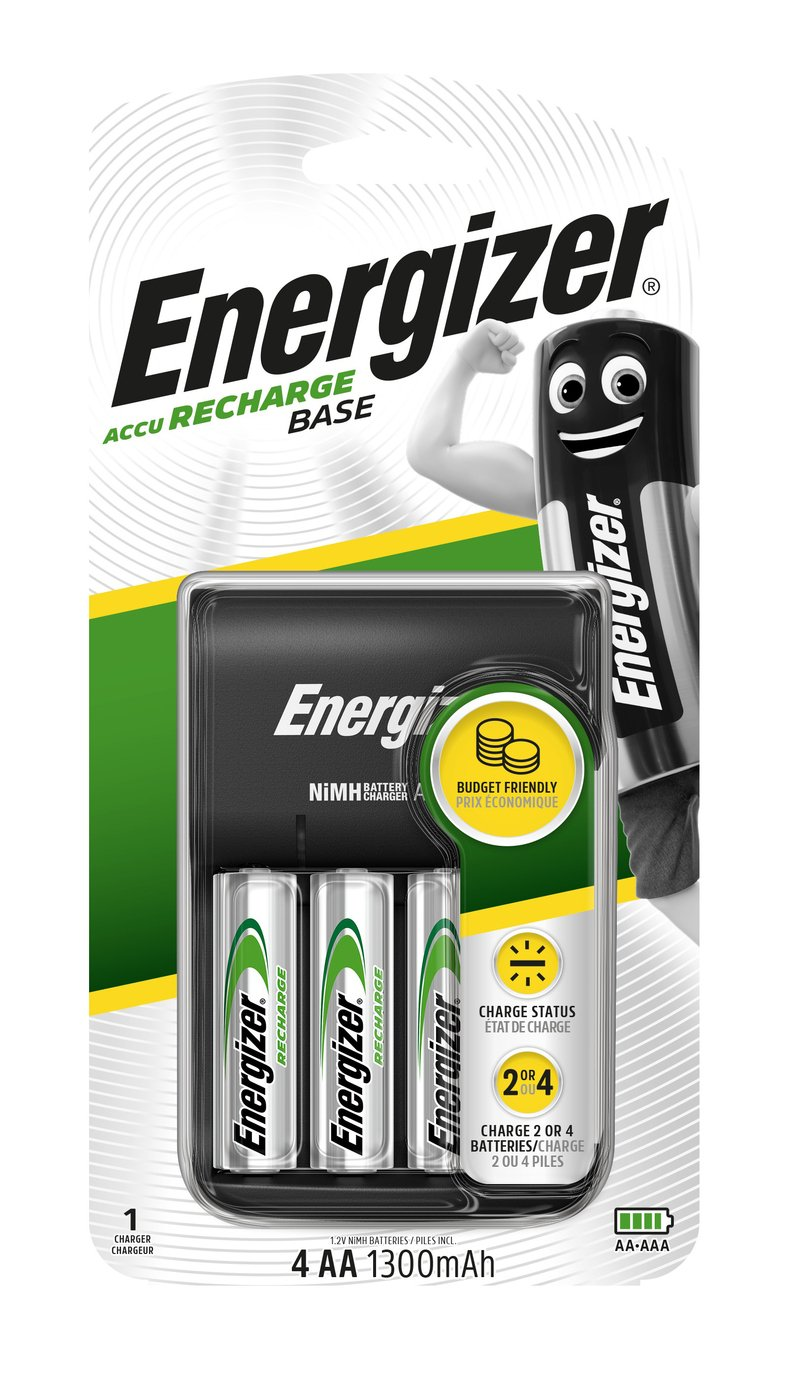 Energizer Value Battery Charger with 4 x AA Batteries