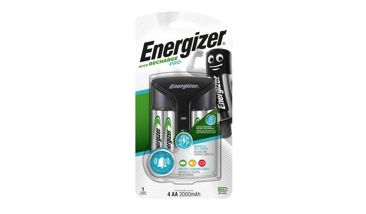 Energizer Pro Battery Charger with 4 x AA Batteries