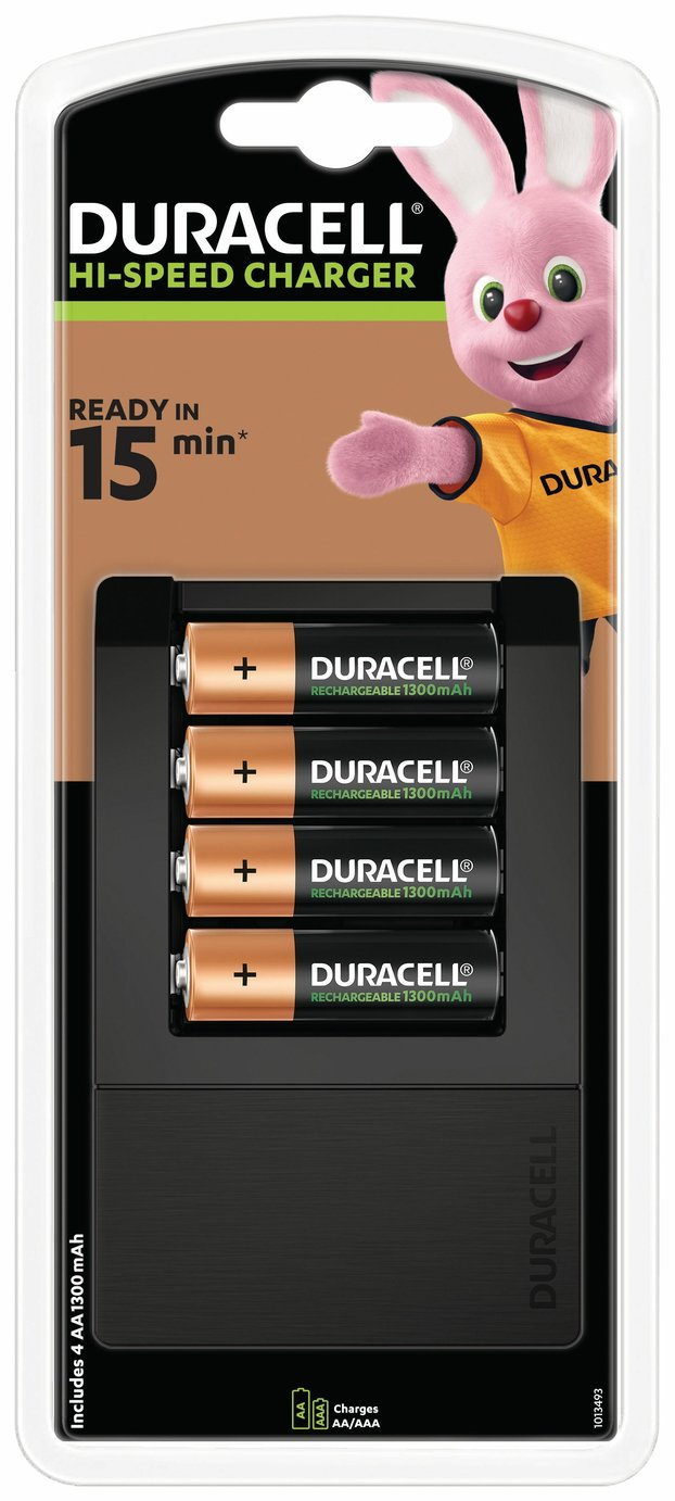 Image of Duracell 5 min AA/AAA Battery Charger with 4xAA Batteries