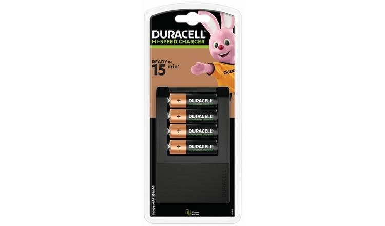 Duracell 15 minutes Battery Charger with 4 AA batteries