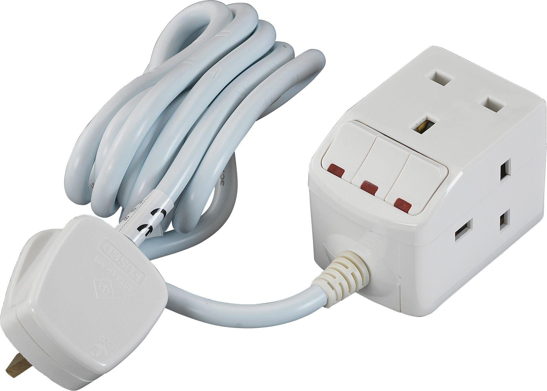 Masterplug - 3 Socket Switched Extension Lead - 2m Review