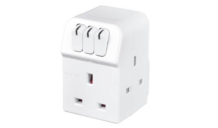 Masterplug 3-Way Individually Switched Adaptor