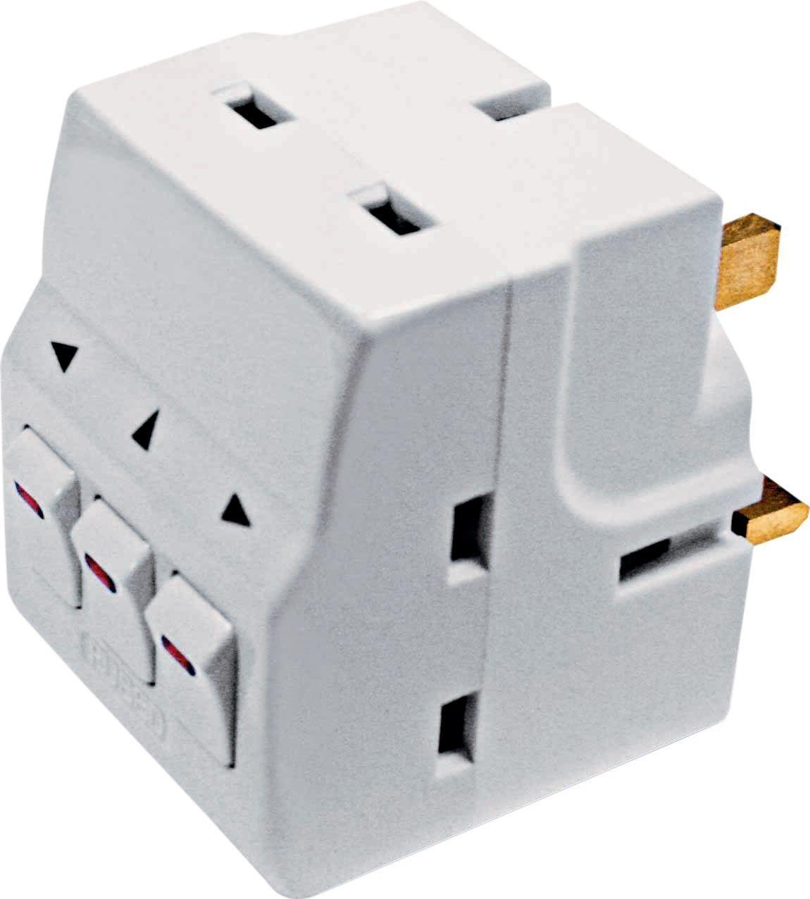 Masterplug - 3-Way Individually Switched Adaptor