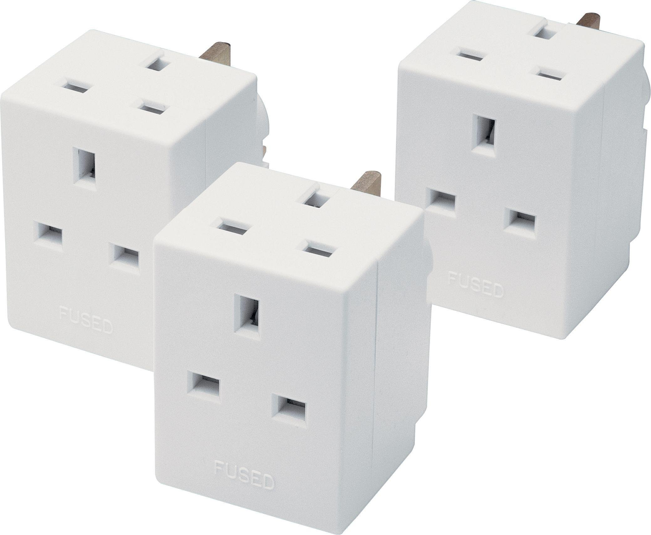 3-Way Adaptor Triple Pack