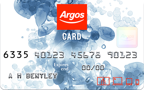 Spread the cost of shopping with an Argos Card credit plan.