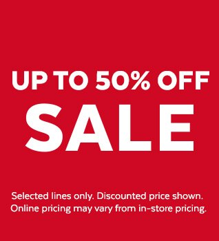 Promotional banner describing the current sale