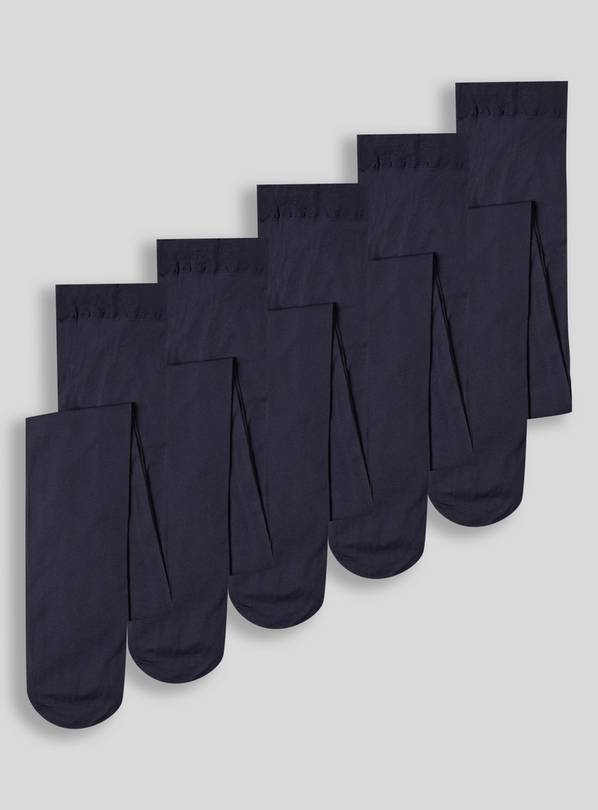 Navy Opaque Tights 5 Pack - 3-4 years