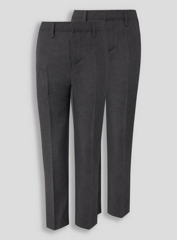 Grey Trousers 2 Pack with Reinforced Knees - 9 years