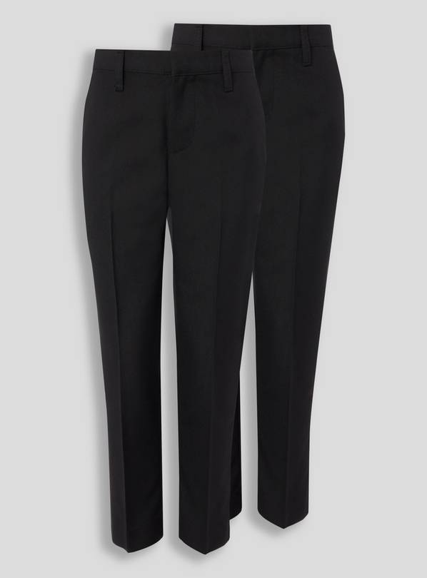Black Trousers With Reinforced Knees 2 Pack - 5 years