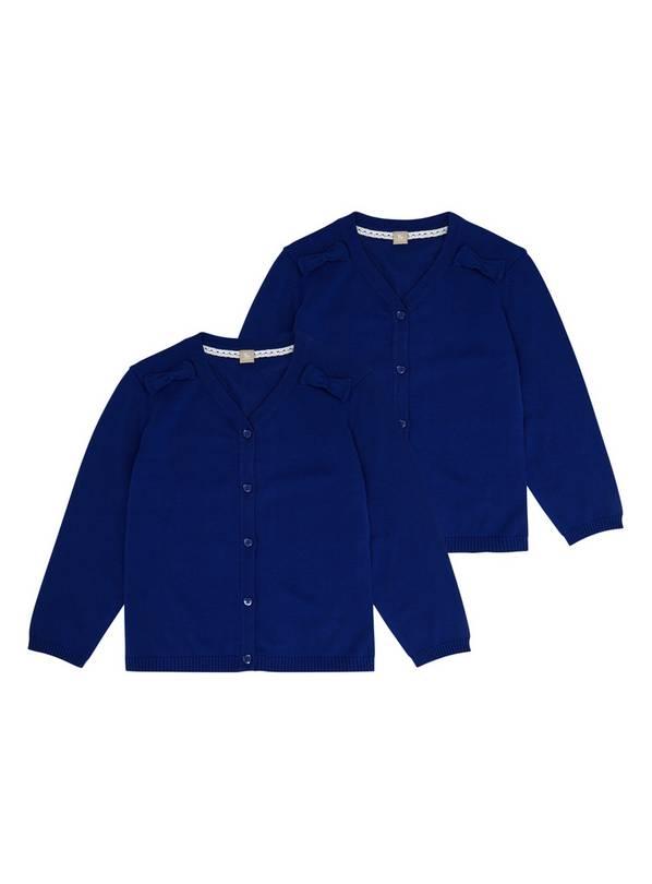 Buy Blue Cardigan 2 Pack 3 years | Girls school uniforms | Argos