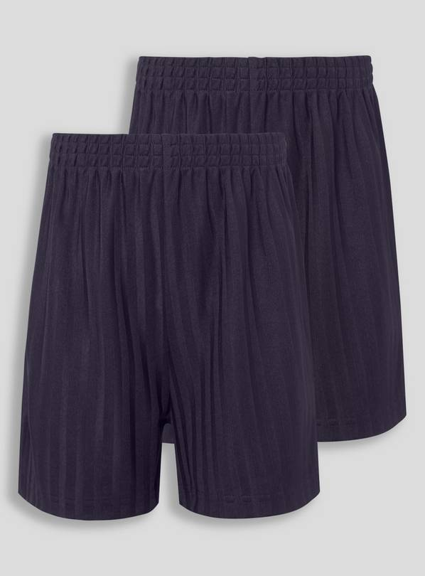 Navy Football Shorts 2 Pack - 14 years