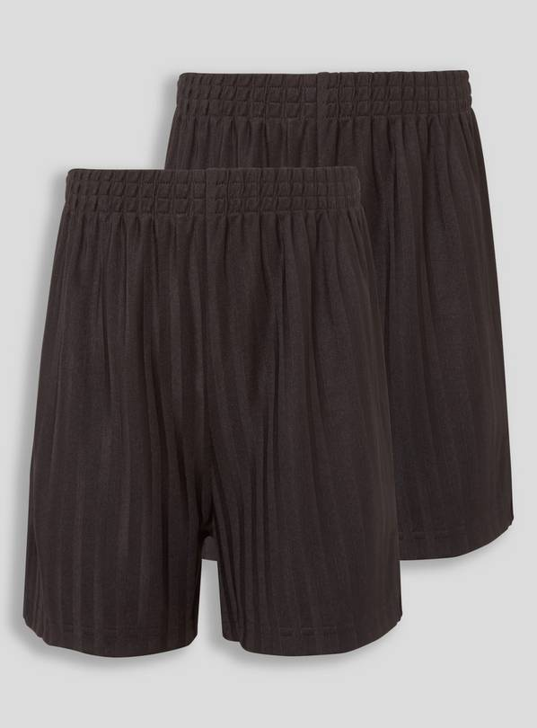 Black Football Shorts 2 Pack - 5 years