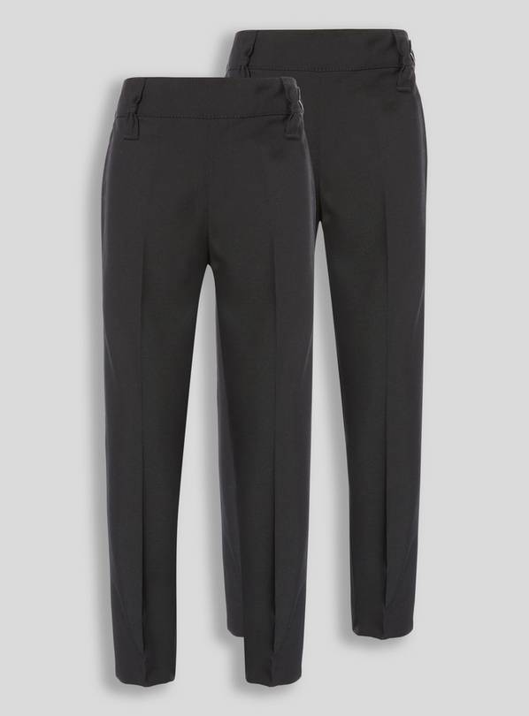 Black Woven Trousers 2 Pack - 10 years