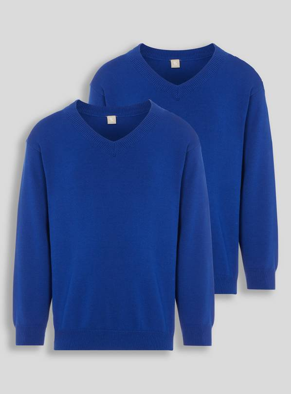 Blue V-Neck Jumpers 2 Pack - 12 years