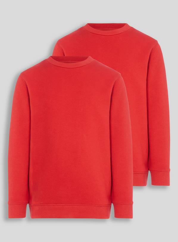 Red Crew Neck Sweatshirts 2 Pack - 4 years