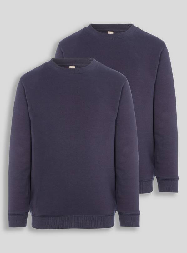 Navy Crew Neck Sweatshirt 2 Pack - 10 years