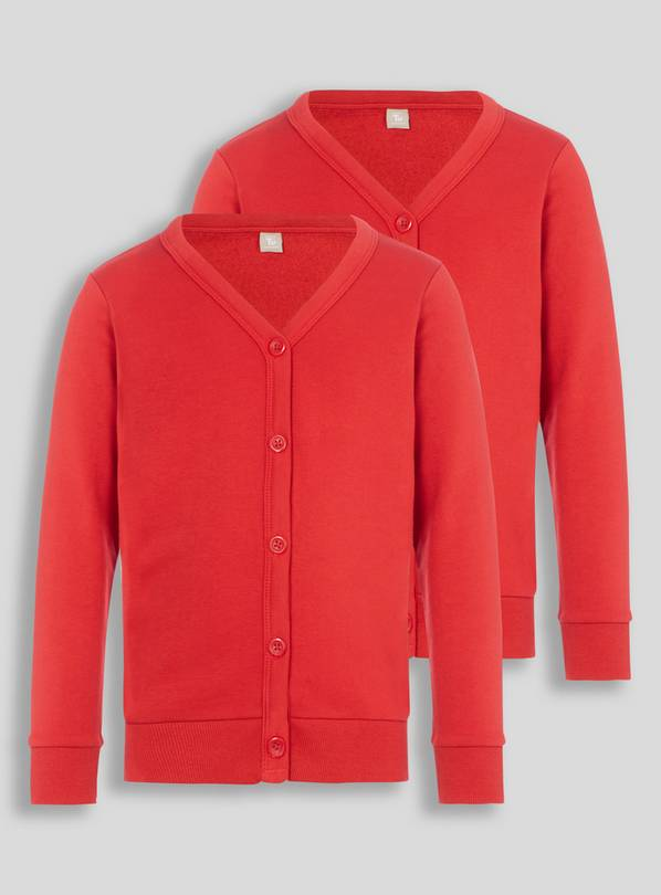 Red Sweat Cardigan 2 Pack - 3 years
