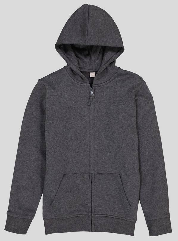 Grey Zip Through Hoodie - 10 years