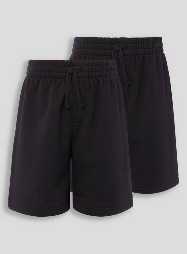 Black Sweat Shorts 2 Pack - 11 years