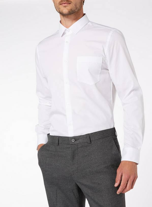White Slim Fit Shirts 2 Pack - 18.5