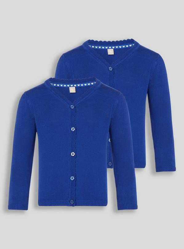 Blue Scalloped Cardigan 2 Pack - 7 years